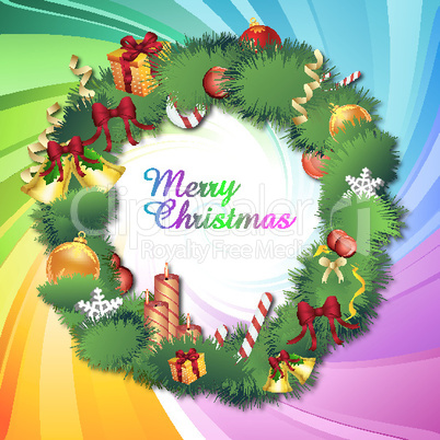 colorful classical christmas card