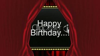Happy Birthday Feliz Cumpleaños Bon Anniversaire ~ Happy birthday ! video animation: royalty free video and stock