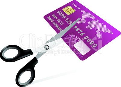 Kreditkarte vernichten