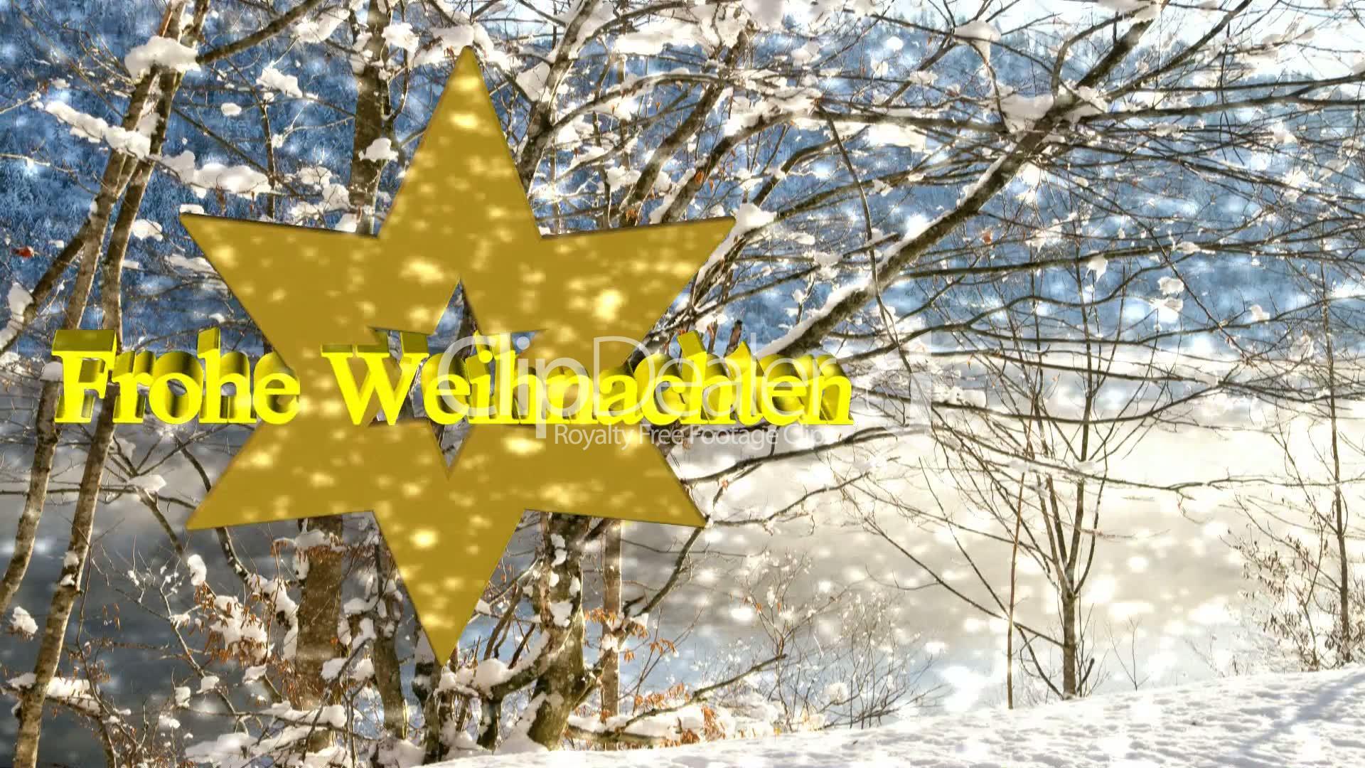 Frohe Weihnachten mit Schnee - Video Animation: Lizenzfreie Stock ...