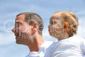 Vater und Sohn Porträt
