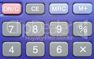 Pocket Calculator blue - Taschenrechner Makro