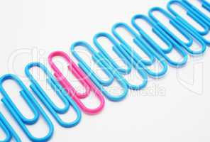 Paper Clips - Büroklammern blau pink
