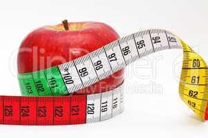 Diet Concept - Diät Konzept mit Apfel