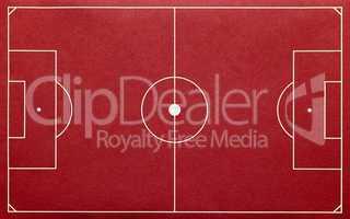 soccer pitch red - fußballplatz rot