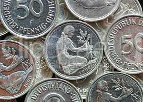 50 Pfennig Münzen - Old German Currency