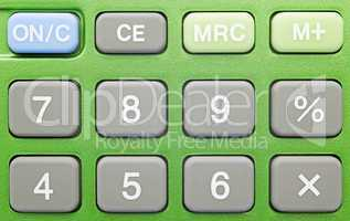 Pocket Calculator green - Close-up