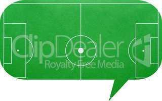 dialog bubble soccer talk - sprechblase fußball