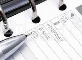 Notebook Close-up - Internet/E-Mail - Notizbuch