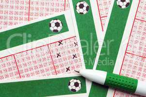 Toto/Lotto Scheine mit Stift - Lottery