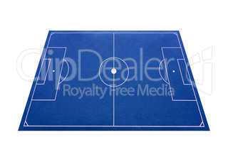 soccer pitch 3d blue - fußballplatz 3d freigestellt