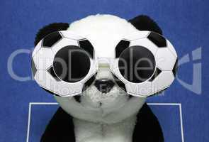 Soccer Mascot blue Background - Fußball Maskottchen