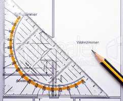 Grundriss Wohnzimmer - ground plan apartment