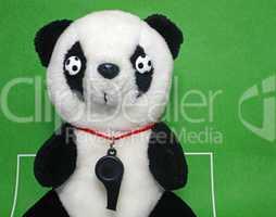 soccer mascot with whistle - fußball maskottchen