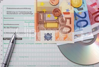 Einkommensteuer - Euros - Elster CD