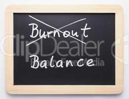 Burnout / Balance - Concept