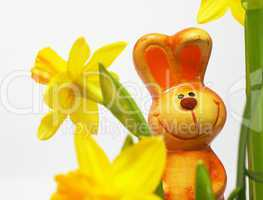 Easter Bunny with Flowers - Osterhase mit Blumen