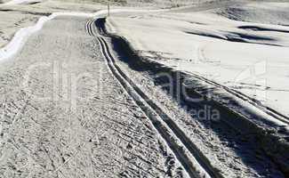 Ski Langlauf Loipe