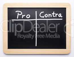 Pro Contra - Concept