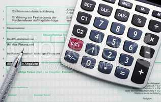 Finanzamt Formular & Taschenrechner