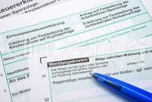 Werbungskosten - Finanzamt Formular