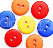 Colorful Buttons - Flower Concept
