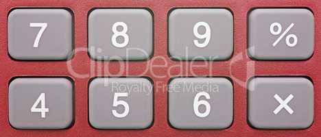 Pocket Calculator Red - Close-up