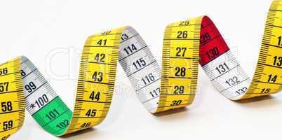 Tape Measure Close-up - Maßband Diagonal