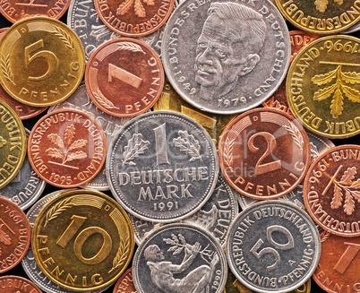 Deutsche Mark und Pfennige - Old German Currency