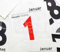 1. Januar - Neujahr