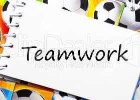 Teamwork - Soccer/Fußball Concept