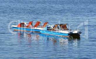 Tretboote auf dem See - Holidays Concept