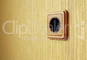 wooden wall outlet