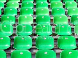 Sitzreihen grün - Seats