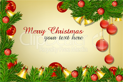decor merry christmas card