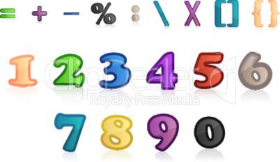 Zahlen und Symbole