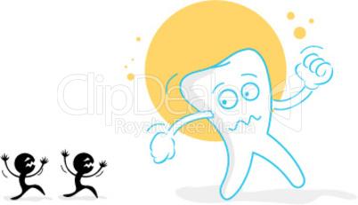 Karies und Zahn