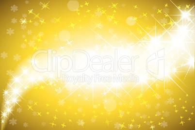 Goldener Sternenhintergrund