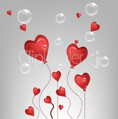 valentine card with bubble