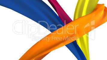 Ribbons on white background.
