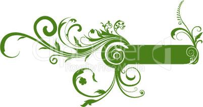 Grünes florales Dekor