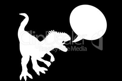 Tyrannosaurus Rex mit Sprechblase