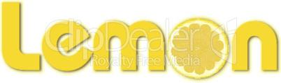 illustration of lemon text