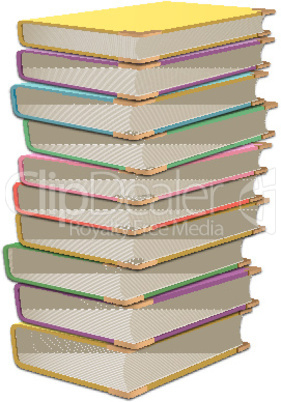 illustration of pile of books