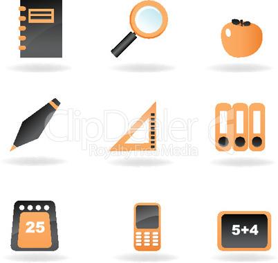 Symbole für Schule und Bildung