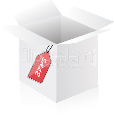 illustration of sale container