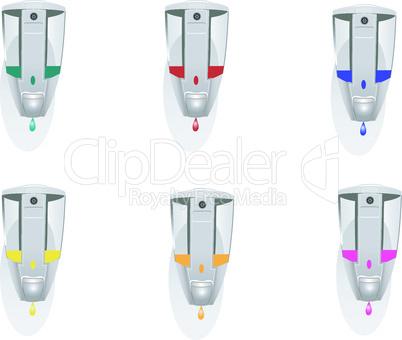 Set of dispensers