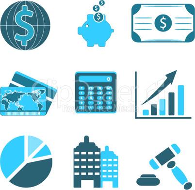 Symbole für Wirtschaft