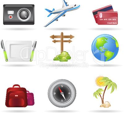 Symbole für Reisen