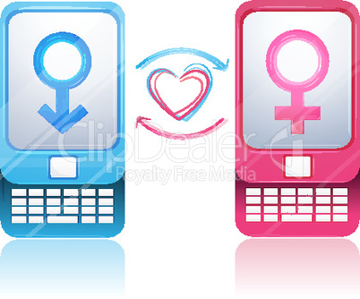 Handys mit Symbolen